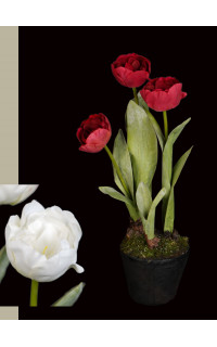 TULIPE artificielle en pot 47 cm